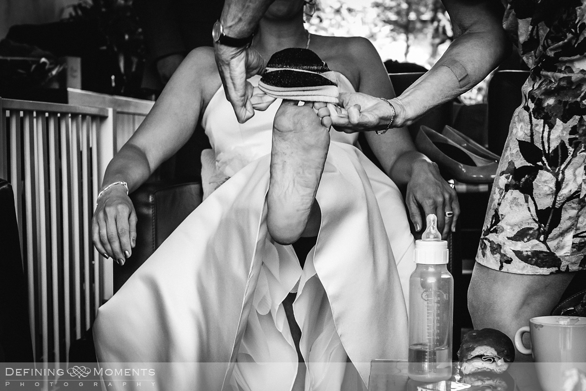 award-winning surrey documentary wedding photographer documentary natural stylish contemporary wedding photography wedding preps bride