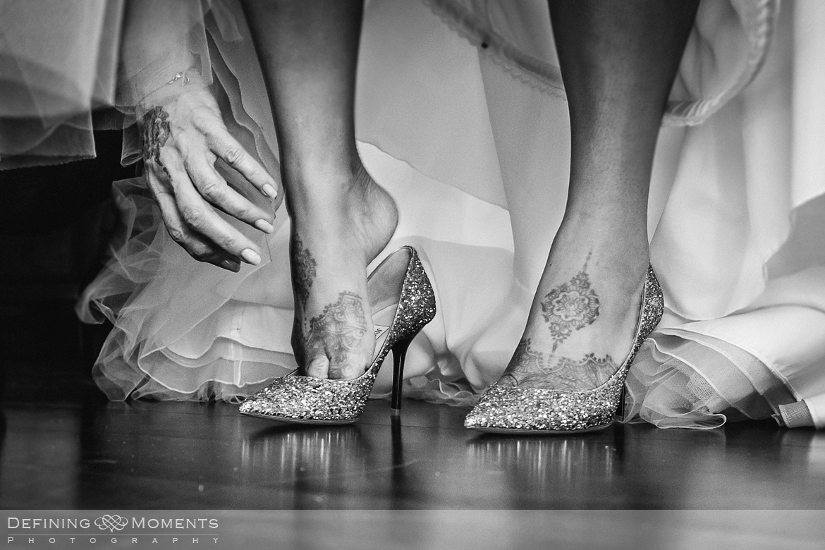 award-winning surrey documentary wedding photographer documentary natural stylish contemporary wedding photography wedding preps sparkly shoes jimmy_choo