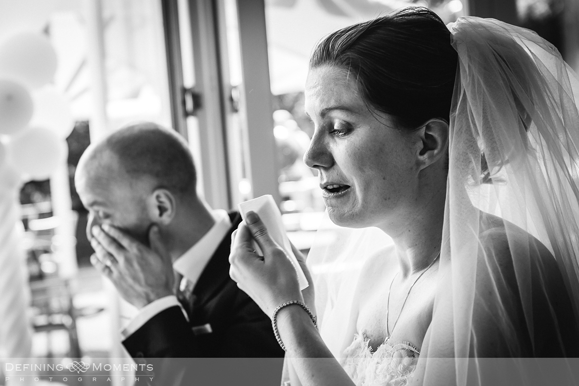 surrey documentary wedding photographer documentary natural stylish contemporary wedding photography wedding reception tears