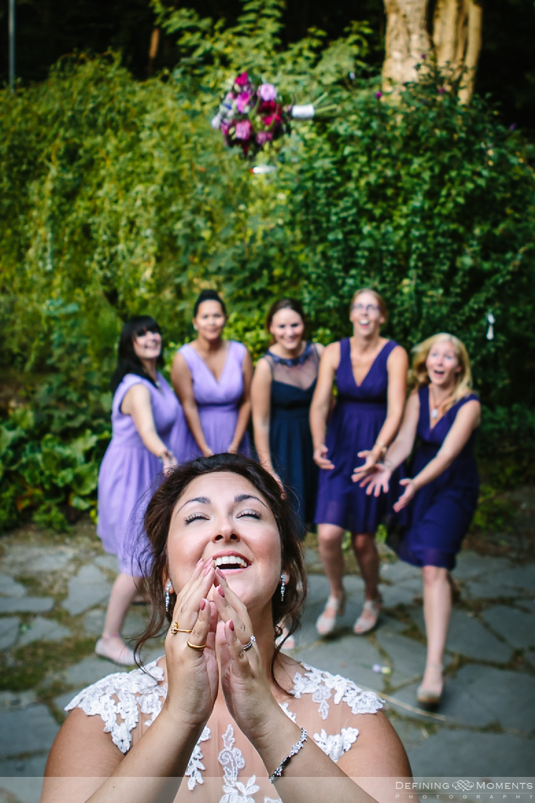 surrey documentary wedding photographer documentary natural stylish contemporary wedding photography outdoor bouquet toss