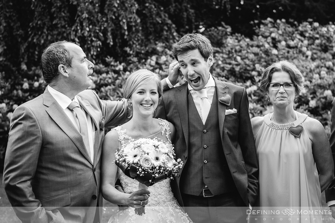 award-winning surrey documentary wedding photographer documentary natural stylish contemporary wedding photography outdoor portrait session group shot