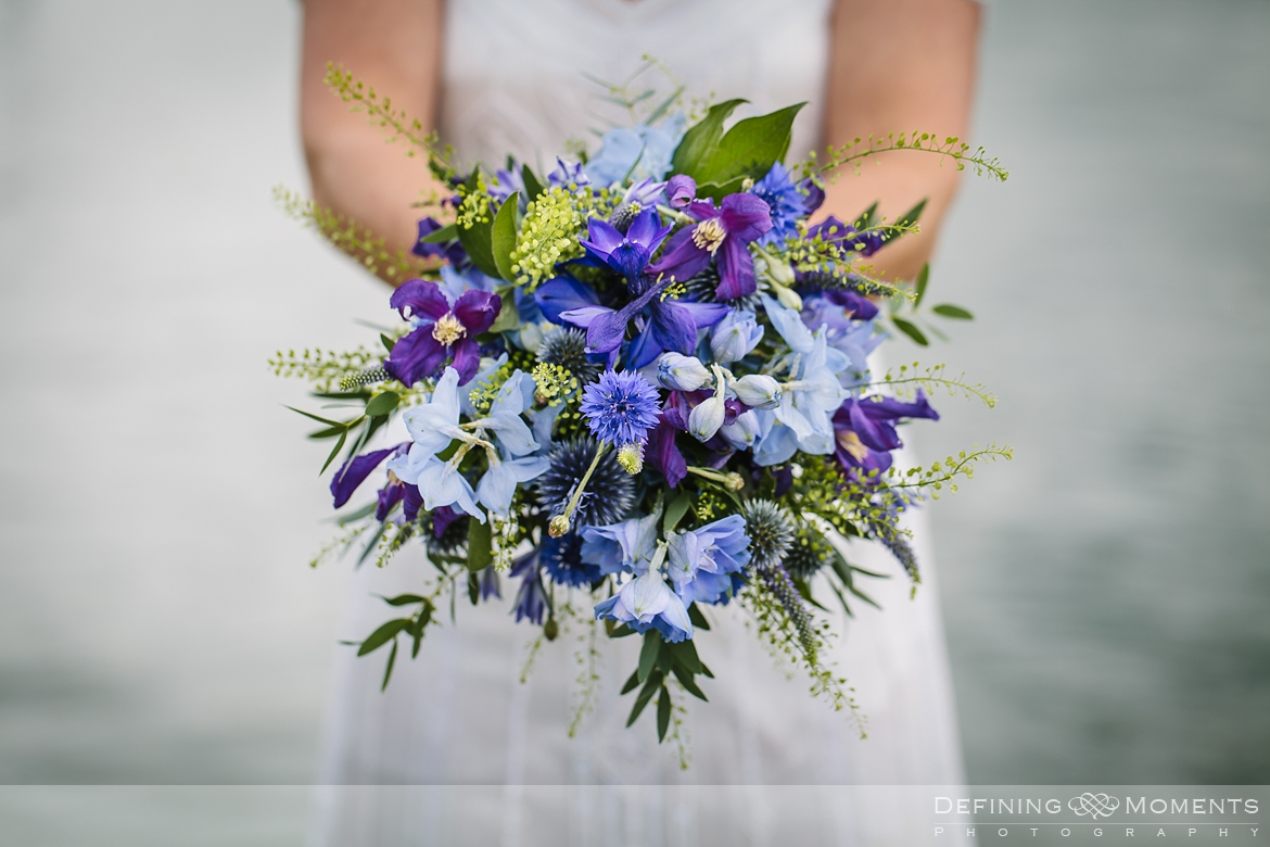 wedding bouquet blue tones award-winning surrey documentary wedding photographer natural stylish contemporary wedding photography outdoor portrait session bride groom