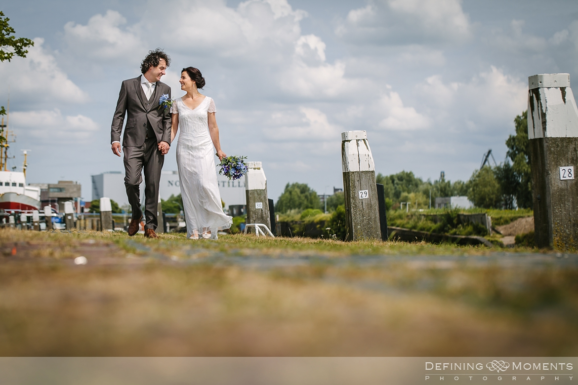 quay side award-winning surrey documentary wedding photographer natural stylish contemporary wedding photography outdoor portrait session bride groom