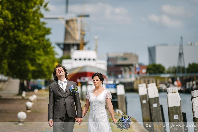 quay side windmill award-winning surrey documentary wedding photographer natural stylish contemporary wedding photography outdoor portrait session bride groom