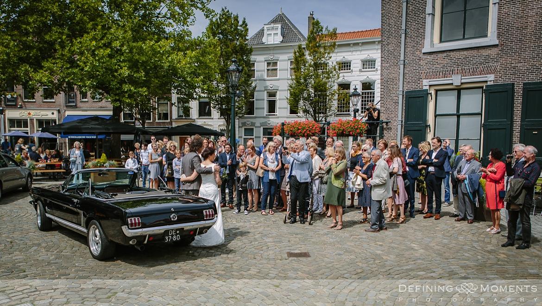 mustang wedding car award-winning surrey documentary wedding photographer natural stylish contemporary wedding photography outdoor portrait session bride groom
