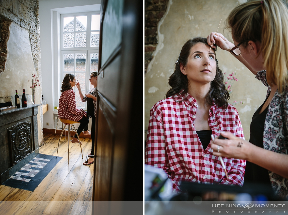 bride prep wine cellar wedding portrait session bride groom thiessen wine buyers maastricht historic picturesque city photography session netherlands