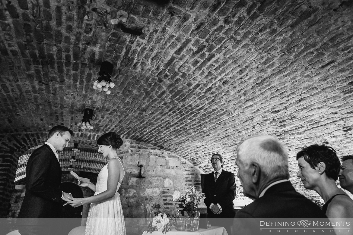 portrait session bride groom maastricht historic picturesque city centre photography wine cellar wedding thiessen wine buyers netherlands