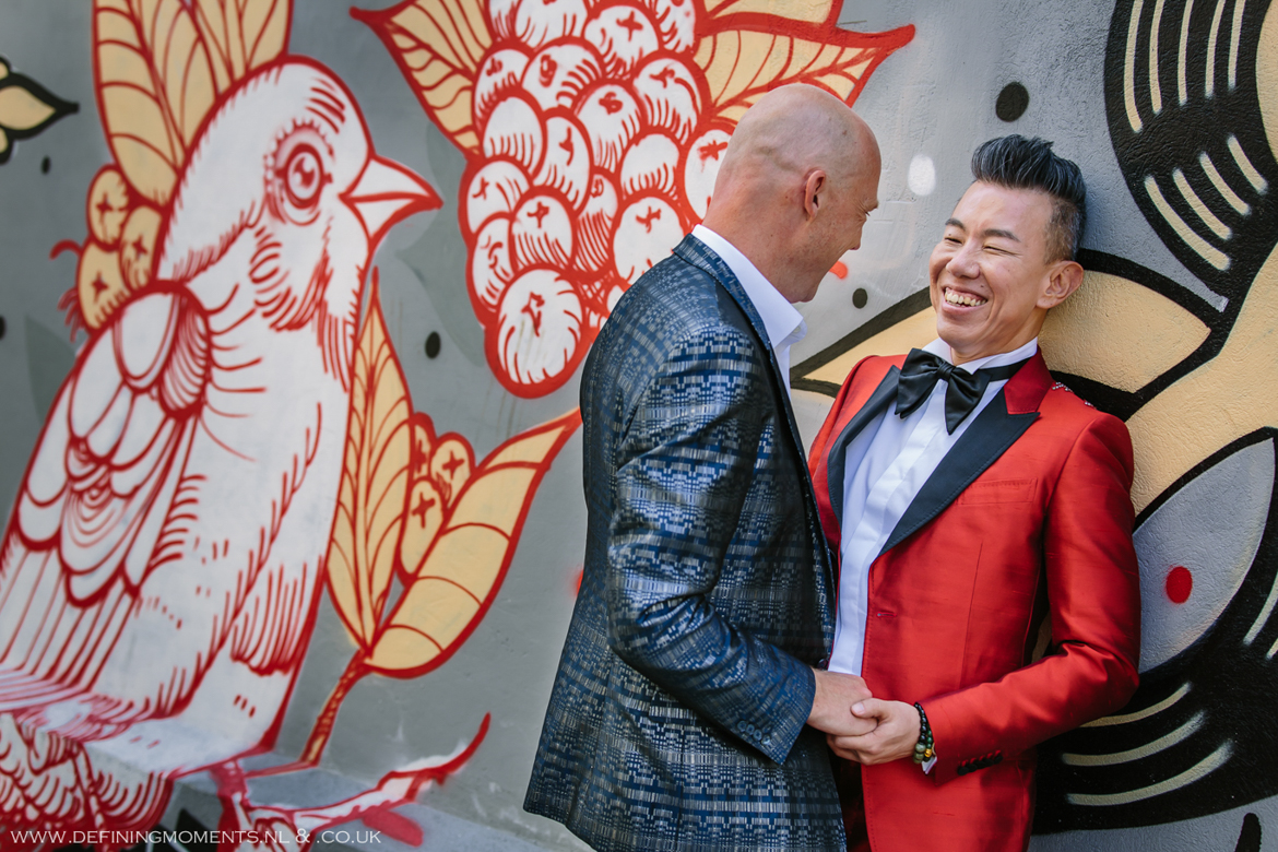 grafitti city portrait grooms gay lgbt same_sex grooms documentary wedding photographer brighton story_telling photography surrey unique wedding chapel venue