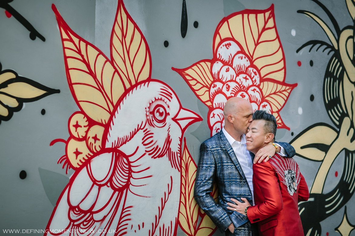 graffiti portrait grooms gay lgbt same_sex grooms documentary wedding photographer brighton story_telling photography surrey unique wedding chape