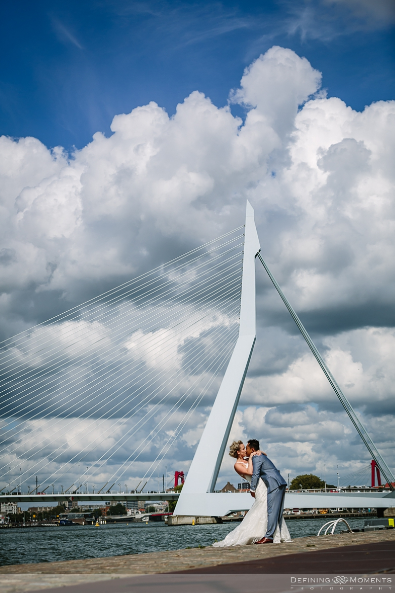 erasmus_bridge wedding_portraits  industrial wedding venue rotterdam vertrekhal award-winning surrey documentary wedding photographer natural stylish authentic unposed contemporary wedding photography