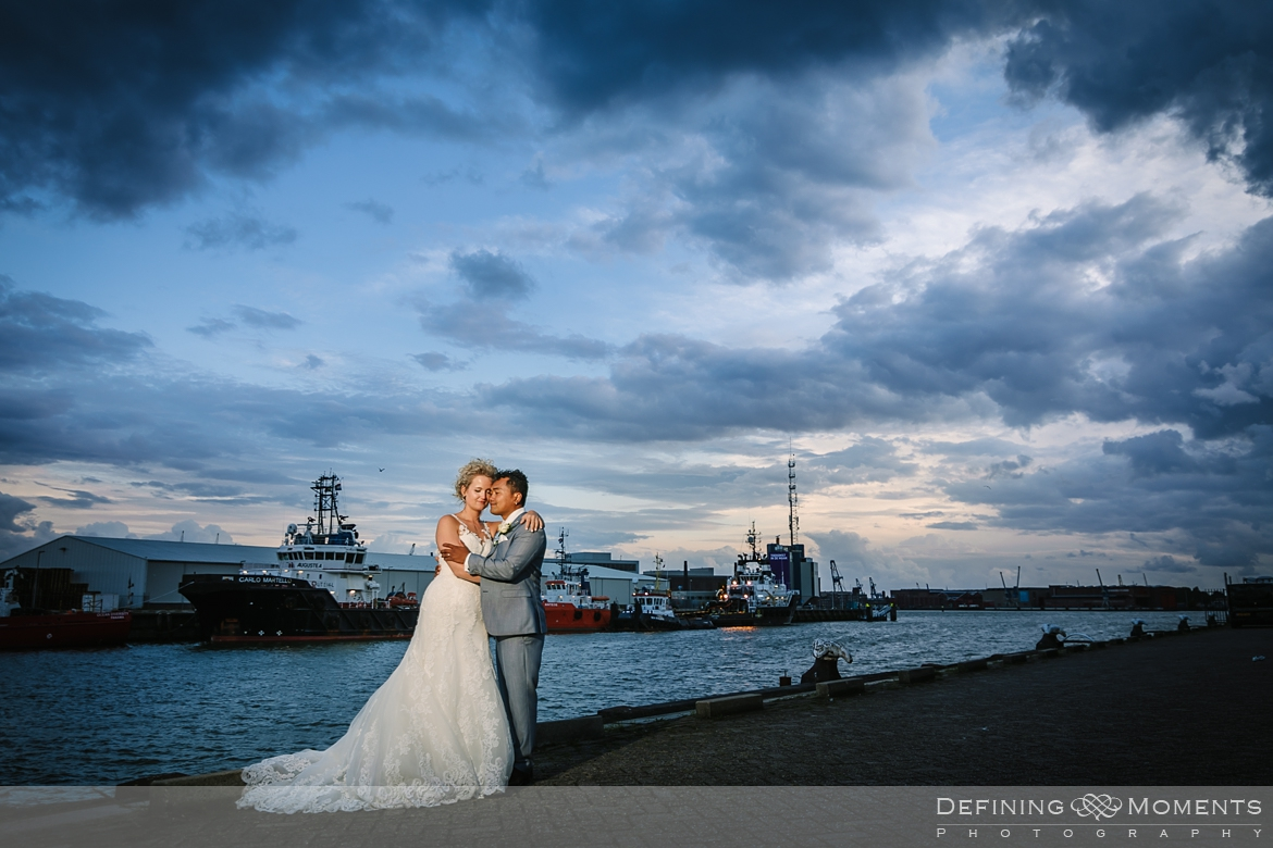 port wedding_portraits  industrial wedding venue rotterdam vertrekhal award-winning surrey documentary wedding photographer natural stylish authentic unposed contemporary wedding photography