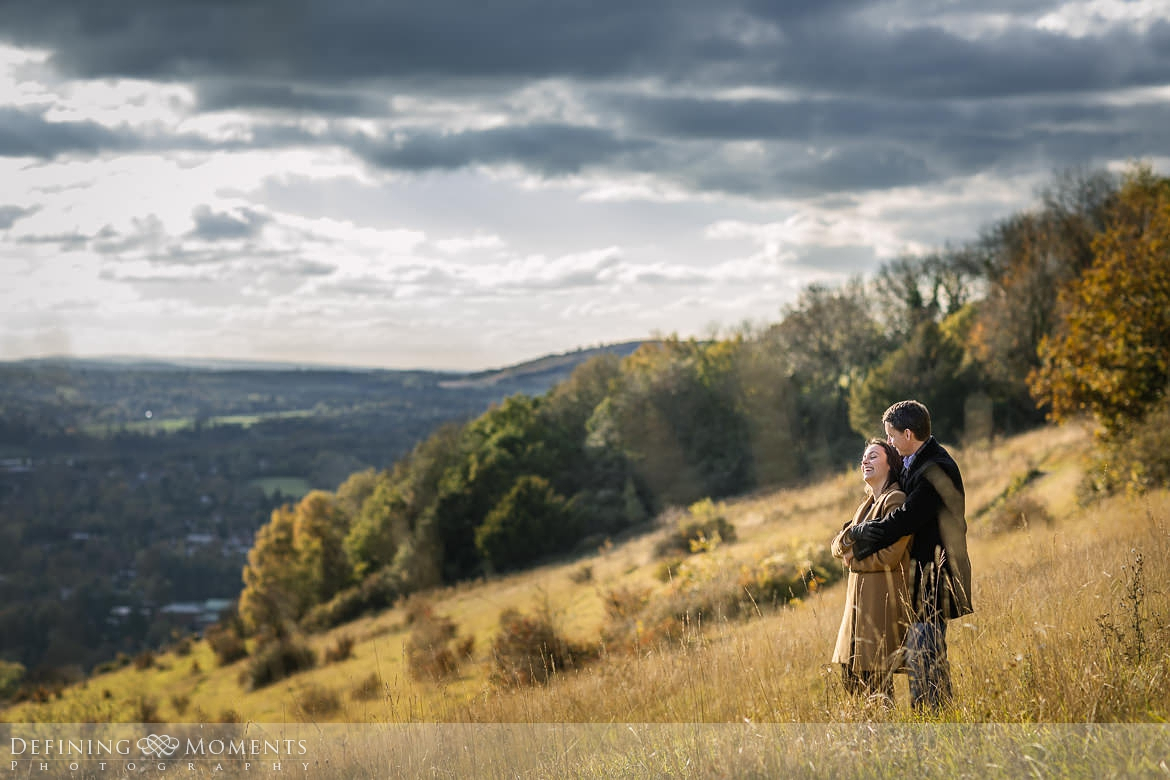 viewpoint surrey hills pre-wedding shoot outdoor couple photography love engagement nature box hill documentary journalistic wedding photographer