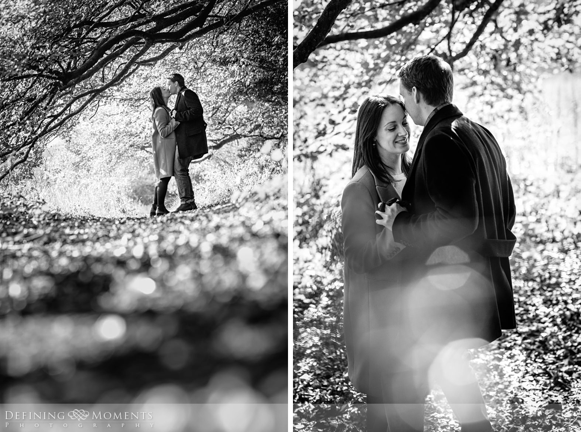 black-white surrey hills pre-wedding shoot outdoor couple photography love engagement nature box hill documentary journalistic wedding photographer