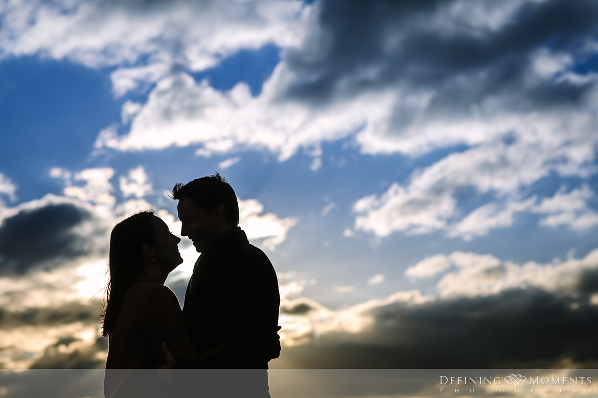 sunset silhouette surrey hills pre-wedding shoot outdoor couple photography love engagement nature box hill documentary journalistic wedding photographer