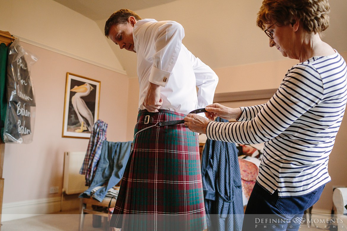 scottish kilt groom prep historic barn rustic countryside farm authentic romantic wedding venue venues surrey photographer photography wyresdale_park