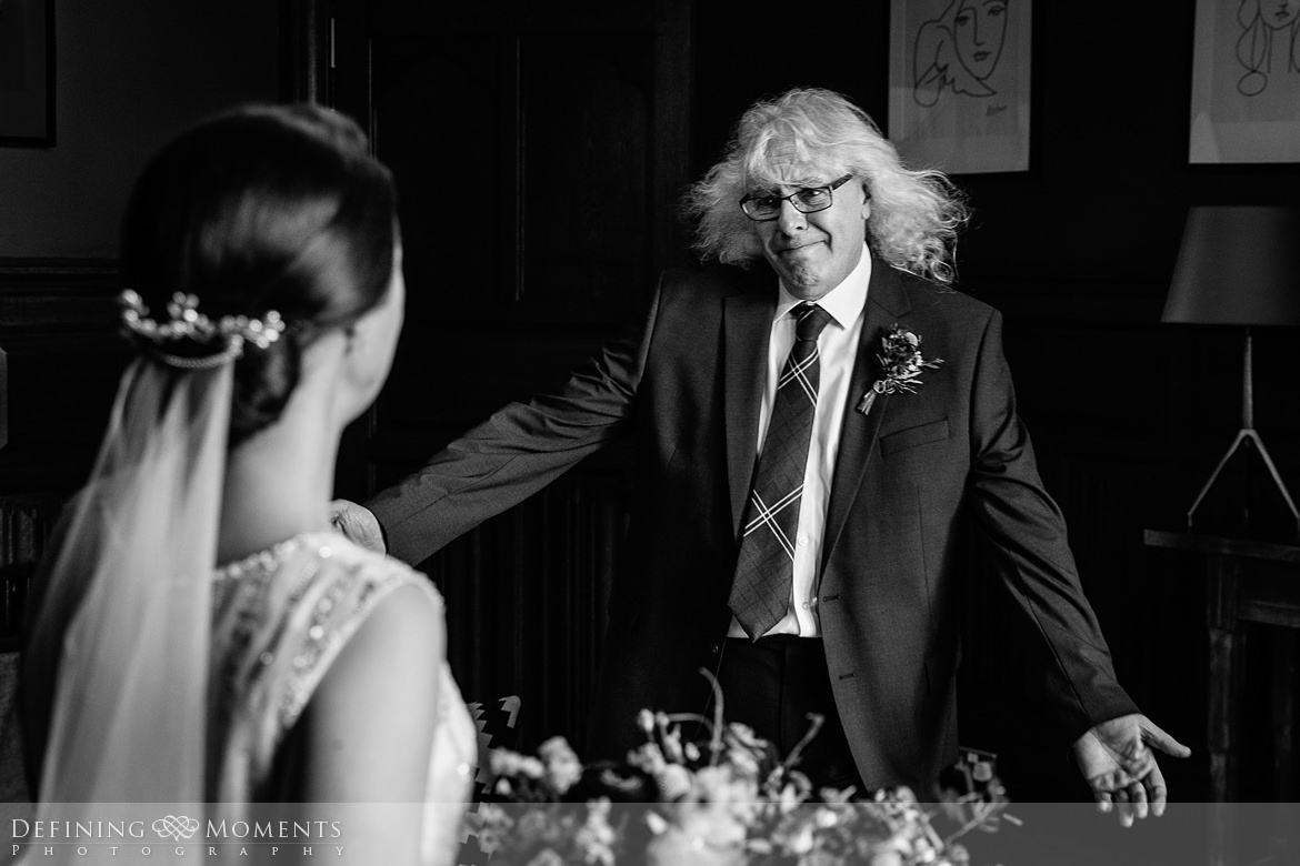 father_of_the_bride first_look bride dad authentic natural unposed wedding photography real_moments emotions surrey award_winning best photojournalistic photographer