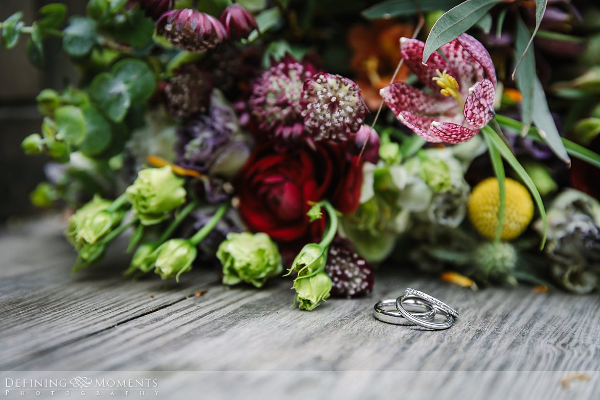 wedding rings detail bouquet barn wedding ceremony bride groom authentic natural unposed photography wyresdale_park real_moments emotions surrey photojournalistic photographer
