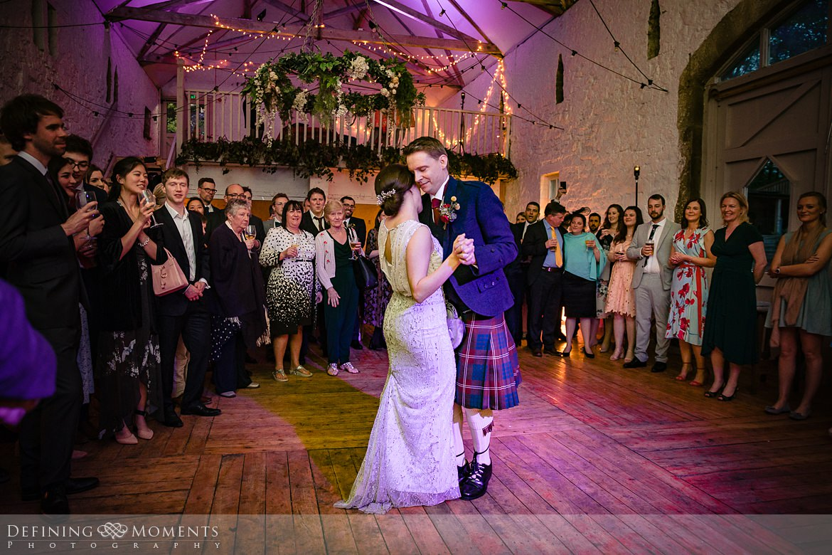 wedding breakfast first_dance bride groom barn wedding_ceremony authentic natural unposed journalistic documentary photography wyresdale_park surrey photojournalistic photographer