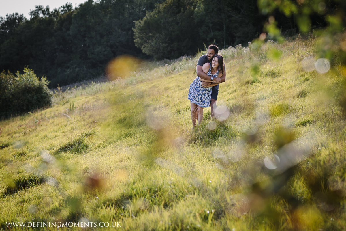 surrey hills surrey couples photo session engagement love pre-wedding documentary photographer wedding proposal  shoot natural contemporary outdoor photography