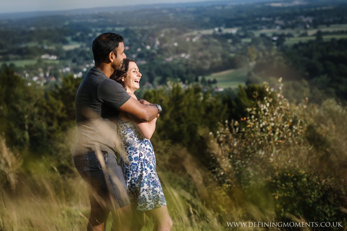 happy couple surrey couples photo session engagement love pre-wedding documentary photographer wedding proposal  shoot natural contemporary outdoor photography