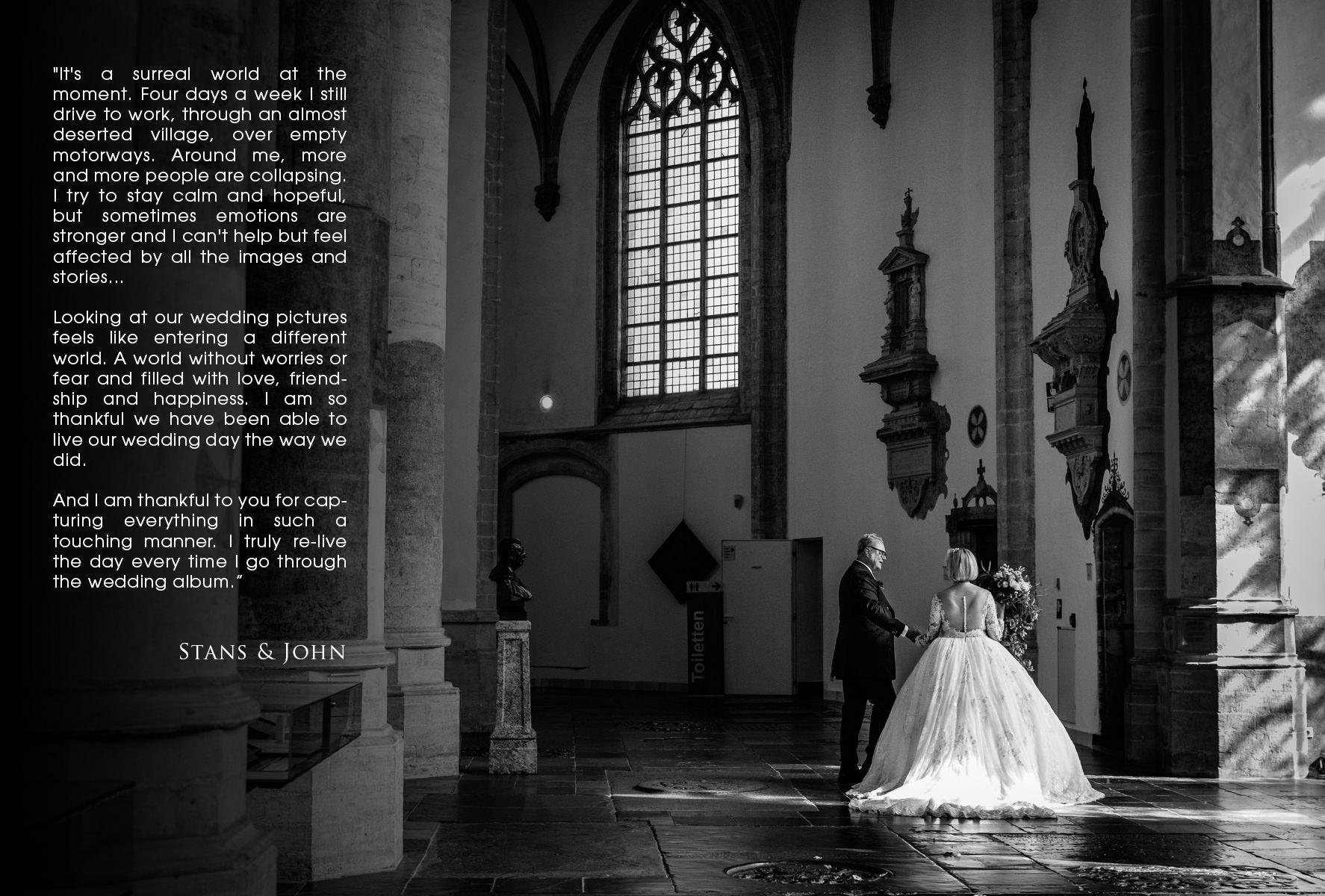 church-documentary-wedding-photo-bride-groom-black_white