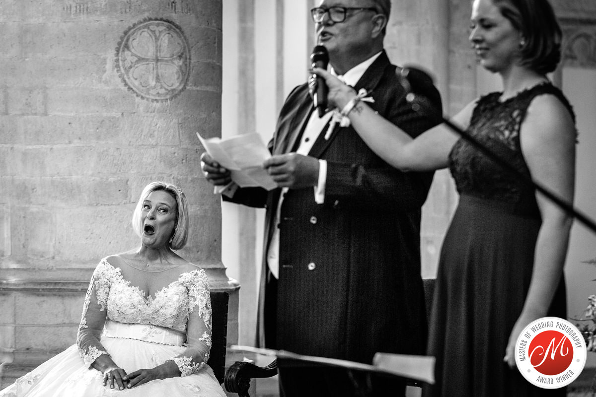 bride church wedding black_white award-winning international documentary wedding photographer surrey best photojournalistic reportage photographer