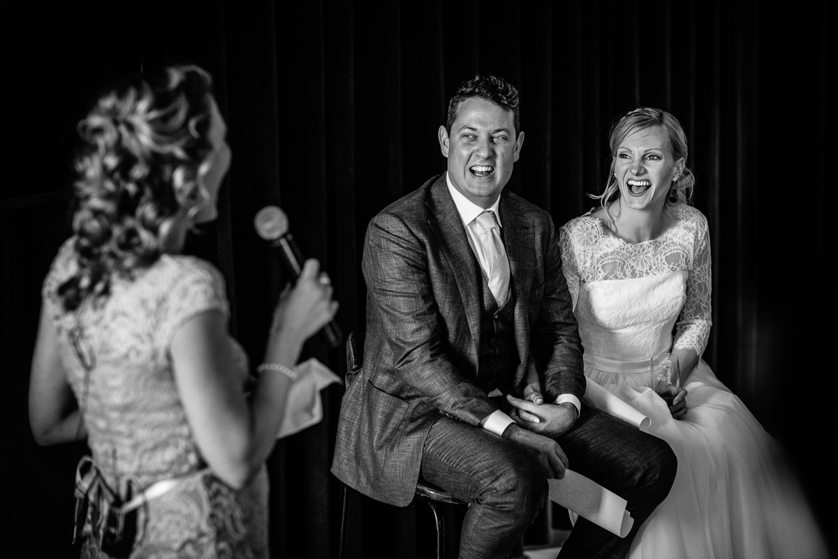 bride groom wedding speeches black_white bride groom portrait close_up award-winning international wedding photographer surrey best photojournalistic documentary reportage photographer photo