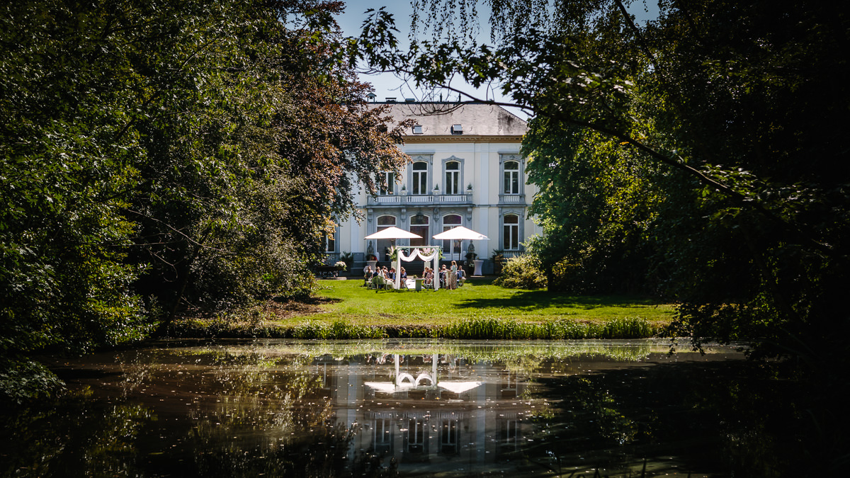 country house wedding venue wolfslaar breda the_netherlands holland lake reflection