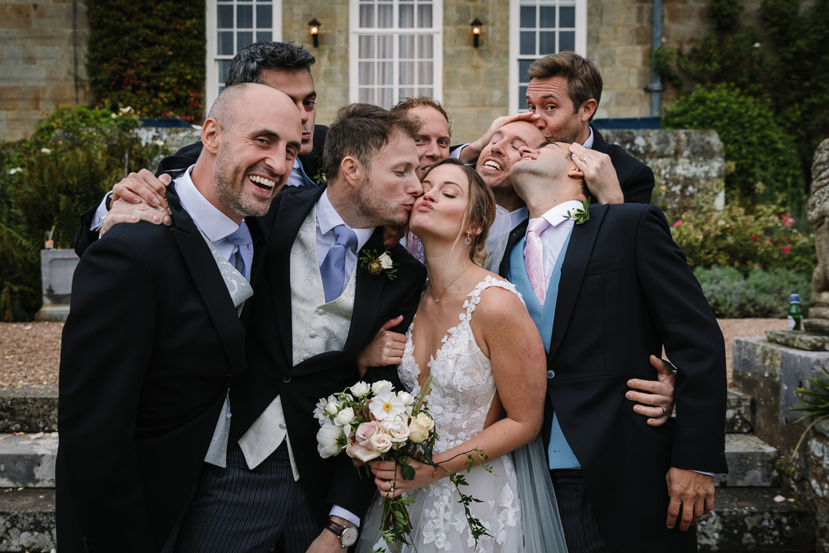 bridal party portrait wedding photo journalistic documentary reportage photographer photo surrey