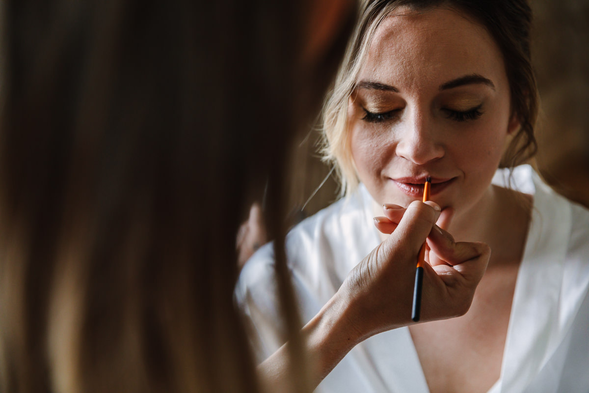 bridal prep bride make_up on wedding day close_up wedding photo journalistic documentary reportage photographer photo surrey