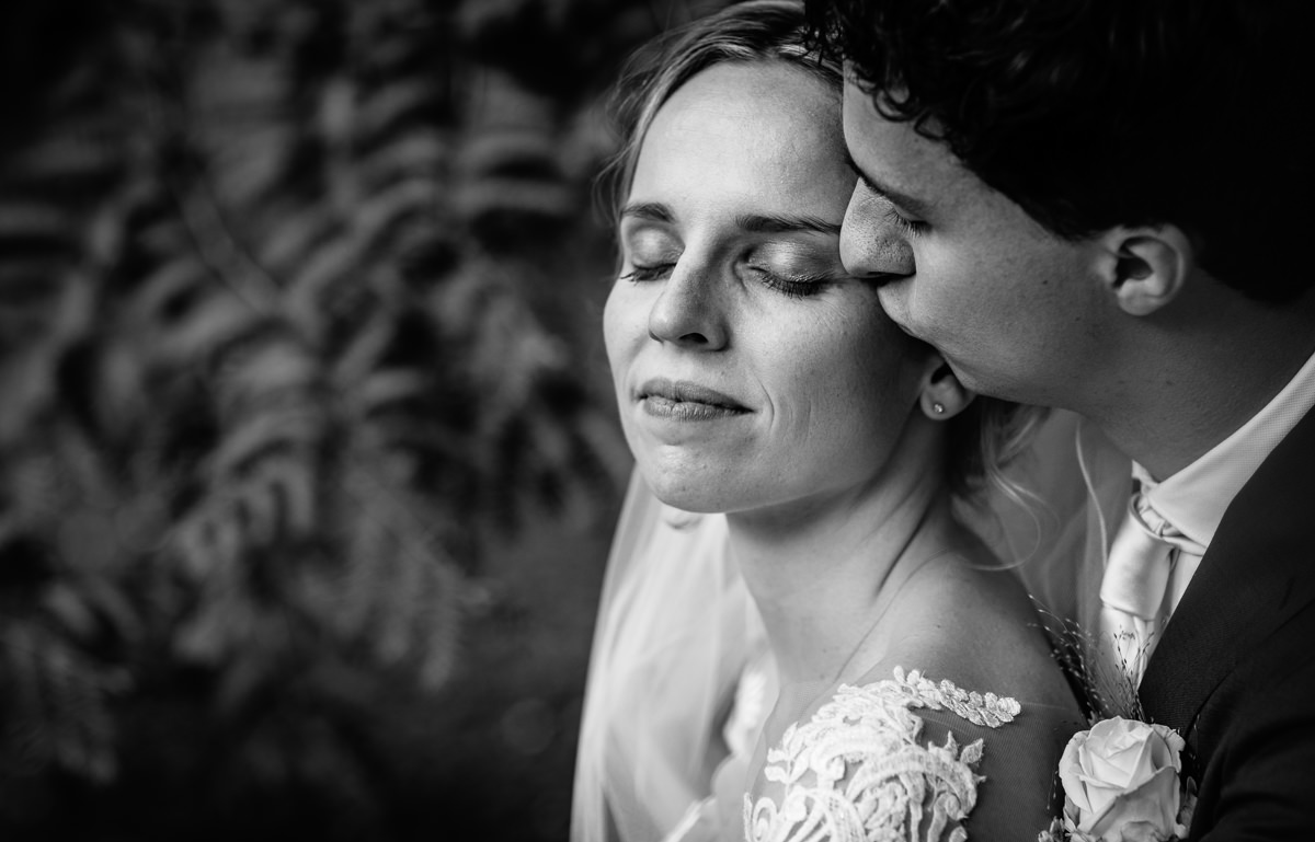 intimate bride groom portrait black_white close_up wedding photo journalistic documentary reportage photographer photo surrey