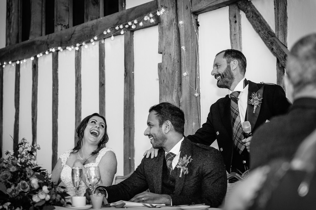wedding breakfast speeches black_white journalistic documentary reportage photographer photography photo surrey