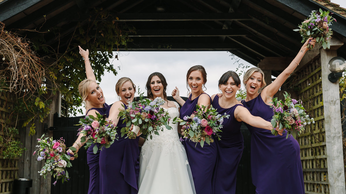 bride bridesmaids flowers bouquets portrait maidens_barn journalistic documentary reportage photographer photography photo surrey